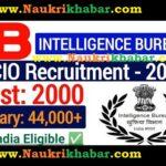 Intelligence Bureau ACIO Recruitment 2021 – Apply Online for 2000 Vacancy