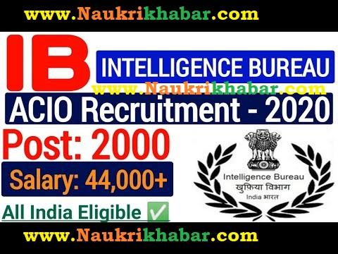 Intelligence Bureau ACIO Online Form 2021