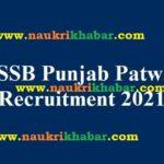 SSSB, Punjab Govt. Recruits 1152 Patwari, Cannal Patwari, Zilledar