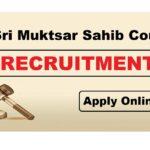 District & Session Court, Sri Muktsar Sahib, Recruits 18 Clerks, Stenographer